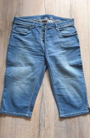 Spodnie z dżinsu typu rybaczki.