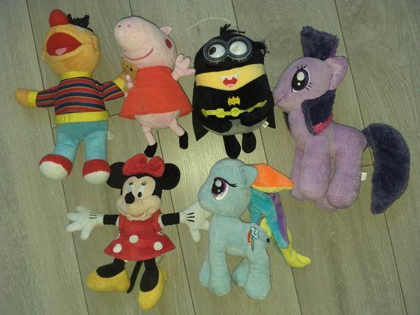 Pluszaki z bajek Minnie, my little pony , minionki , peppa pig