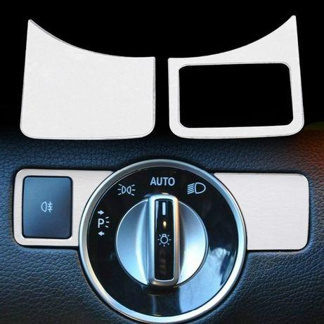 Revestimento para botão de farois para Mercedes class A B C E GLK GL M