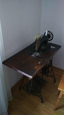 stara maszyna do szycia stolik Singer Omega zabytek AMERIC. SEW. KMFG