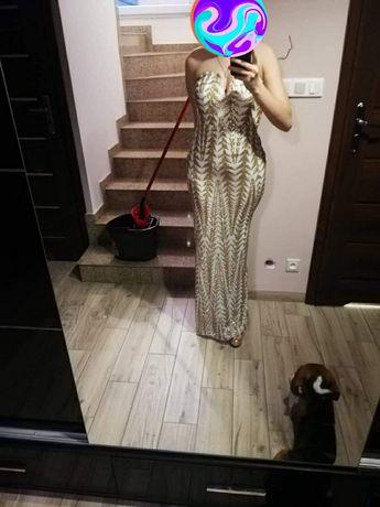 Złota cenikowa suknia wieczorowa! Nowa !!