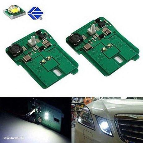 Mínimos, Suporte de lâmpada, Circuito led branco 6000k Mercedes Classe E 10-13 W212/C207/A207/W207