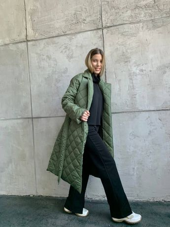 Пальто стьобане, на утеплювачі