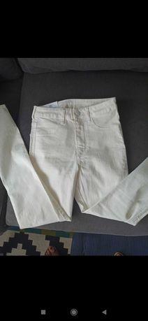 Biale spodnie hm