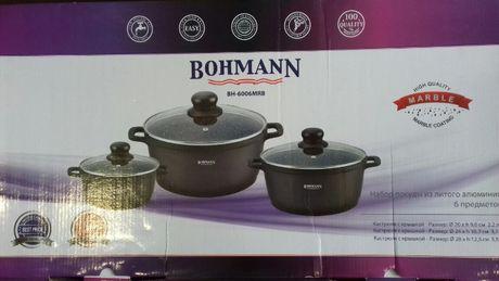 """Набор посуды """"Bohmann"""", с мраморным покрытием 6 предмет"""