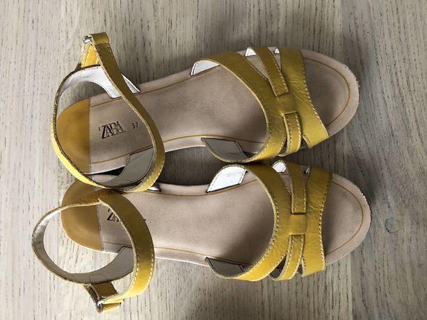 Skórzane sandały Zara rozm 37