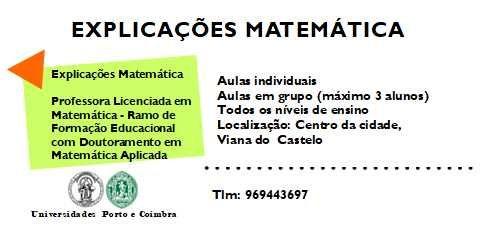 Explicações Matemática Básico/Secundário/Superior