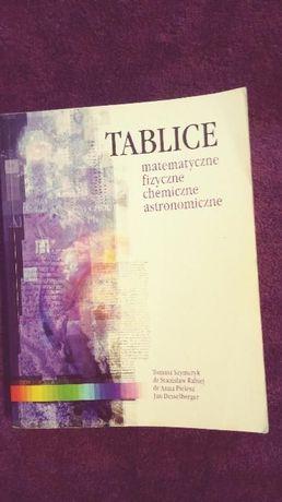 Tablice matematyczne, fizyczne, chemiczne, astronomiczne.
