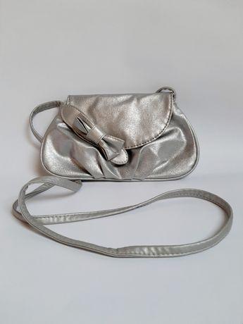 Srebrna torebka Claire's - dla dziecka, dla dziewczynki, dziecięca