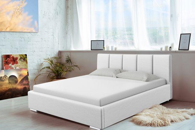 Łóżko sypialniane tapicerowane Madryt, różne wymiary, stelaż+pojemnik