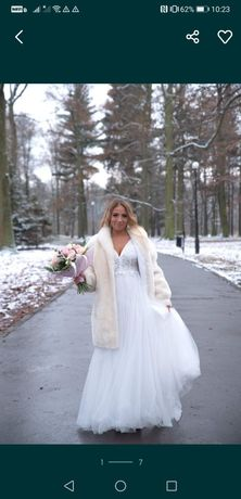 Suknia slubna/ślub kościelny/ślub cywilny/suknia ciążowa JAK NOWA