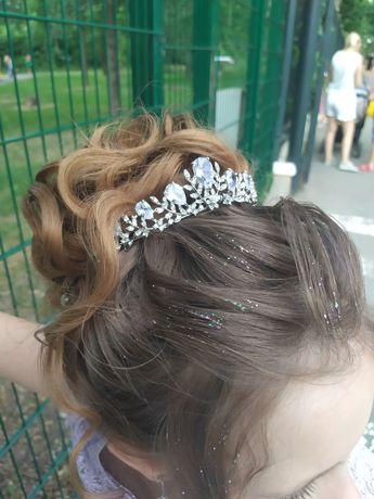 Украшение в на волосы Корона,диадема,свадебная,закрутки,заколочки