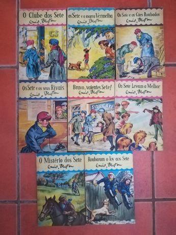 """8 Livros de """"Os Sete"""" , Coleção de Enid Blyton"""