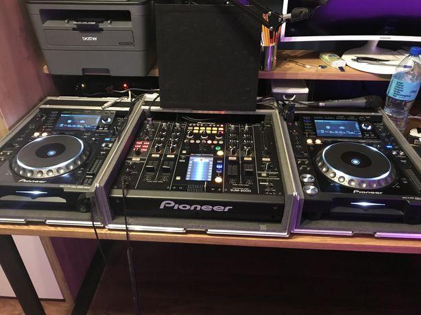 Mixer Pioneer DJM 2000 + 2x CDJ 2000NXS + 3x case - Nie 900 800