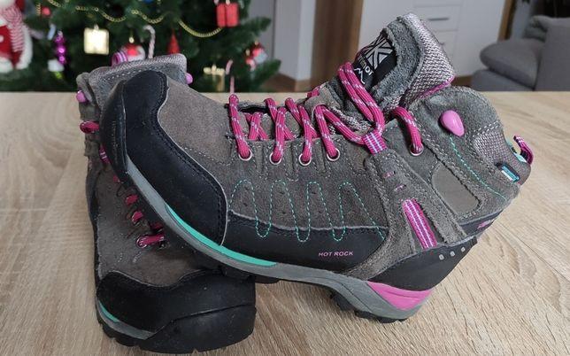 wodoodporne buty trekkingowe Karrimor dla dziewczynki rozm. 34
