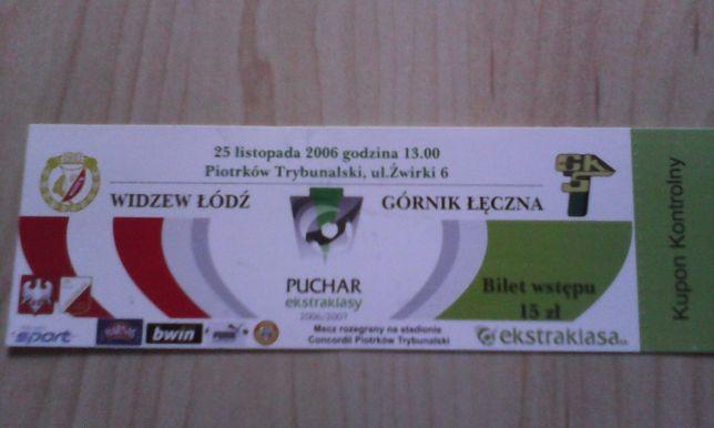 bilet Widzew Łódź-Górnik Łęczna 25 listopada 2006