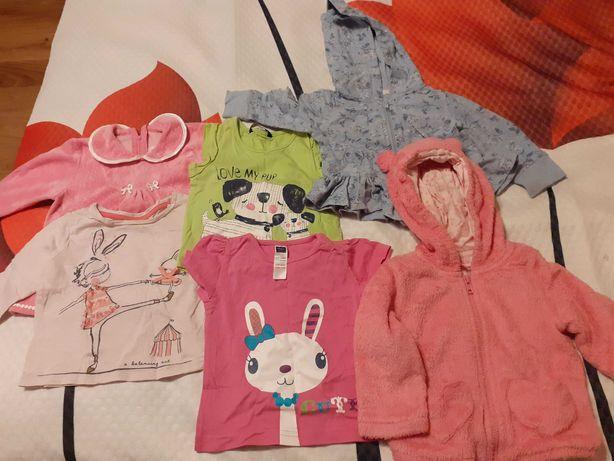Śliczne ubranka dziewczynka80-86 bluzy i bluzeczki dla Twojej córeczki
