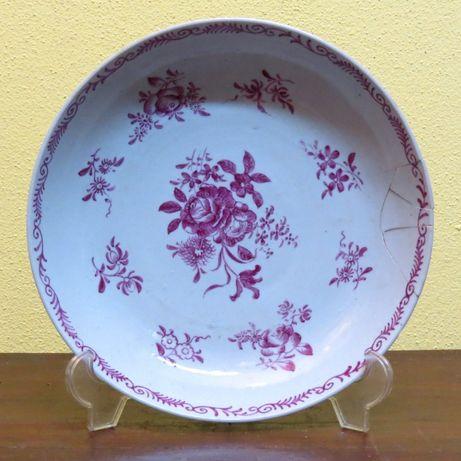 Prato Companhia das Índias porcelana chinesa, nº7; Século XVIII 23cm