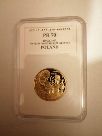złota moneta 200zł bardzo rzadka