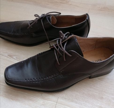 Eleganckie buty męskie mokasyny półbuty ciemny brąz roz 44 wkl 29