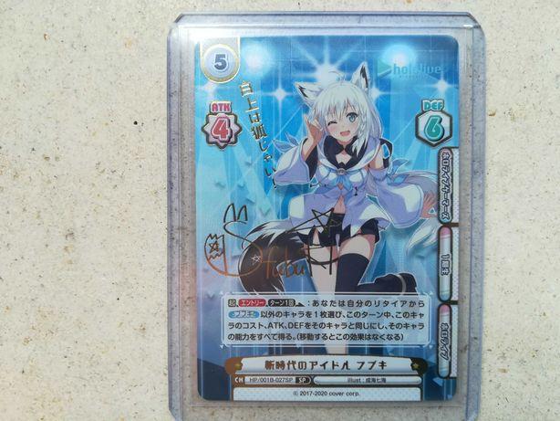 Rebirth for you Hololive - Fubuki HP/001B-027SP Signed & Foil