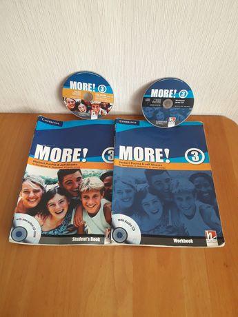 Учебник и тетрадь  английского языка More 3 . Students book .