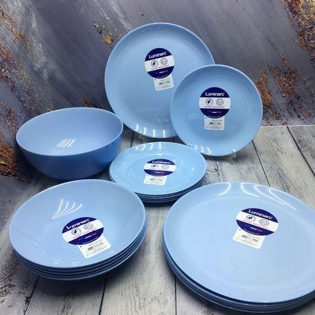 Тарілки Luminarc всі кольори та види\ Тарелки\Набор тарелок 19пр