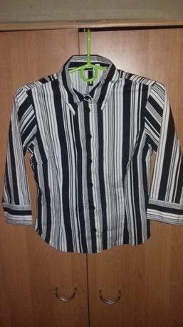 Koszula w biało-czarne paski