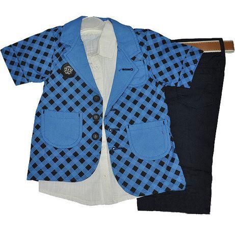 Детский костюм-тройка Стильный нарядный для мальчика рост 104 - 122