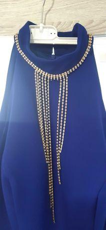 sukienka choker łańcyszki M