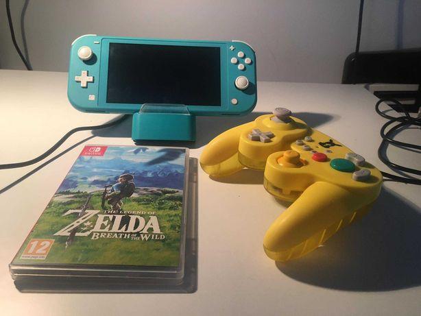 Nintendo Switch Lite + Zelda + Pad do Super Smash Bros !