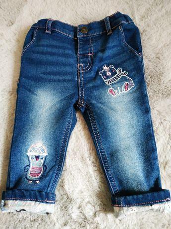 Spodnie jeansowe/jeans/dżins w rozmiarze 74 cm