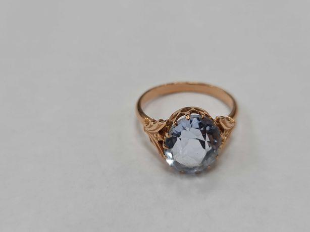 Wyjątkowy złoty pierścionek damski/ Radzieckie 583/ 4.08 gram/ R16