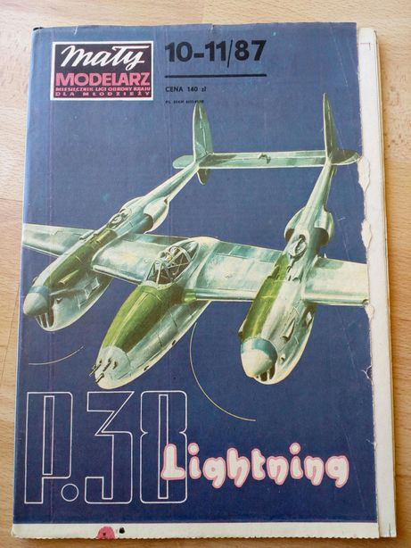 Mały Modelarz 10-11/87 P-38 Lightning