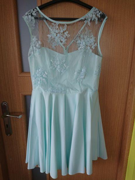 sukienka miętowa r 46