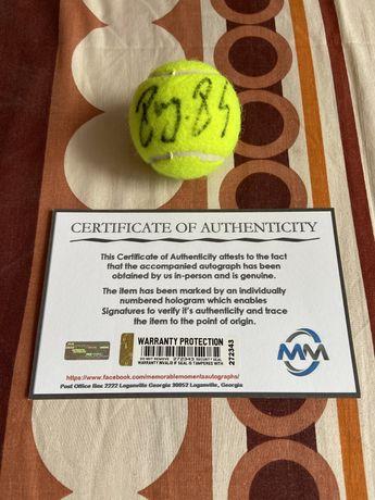 Piłeczka tenisowa Roger Federer oryginalny autograf Certyfikat