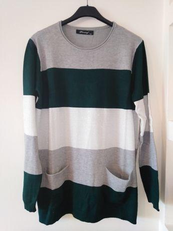 Nowy błyszczący sweter damski S
