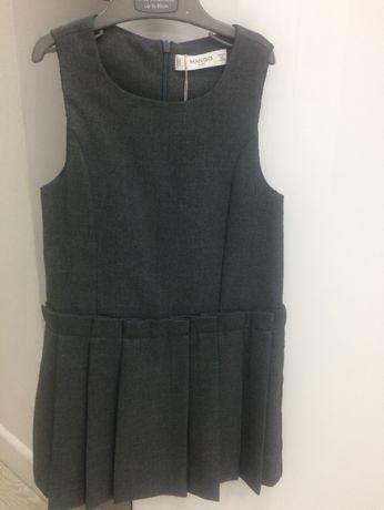 Сарафан, платье тёплое на подкладке Mango на 4-5 лет 104 р