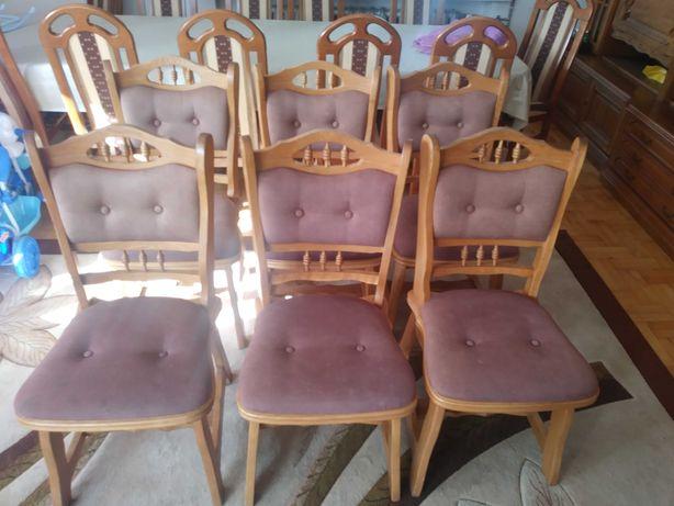 Krzesła dębowe 6 sztuk