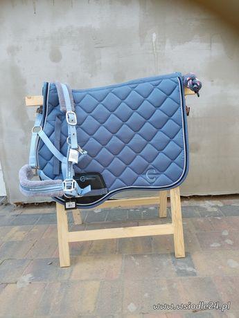 Komplet dla konia ice blue czaprak kantar uwiaz nowy