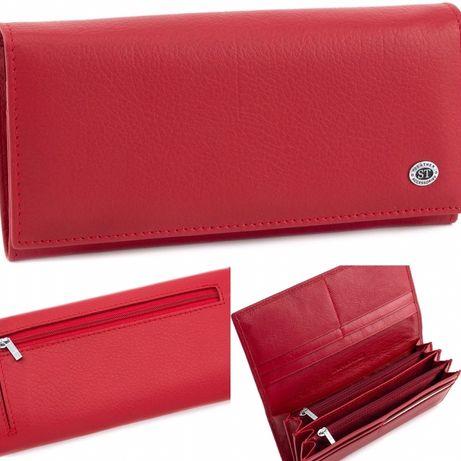 Красный женские кошелек в классическом стиле из натуральной кожи F иST