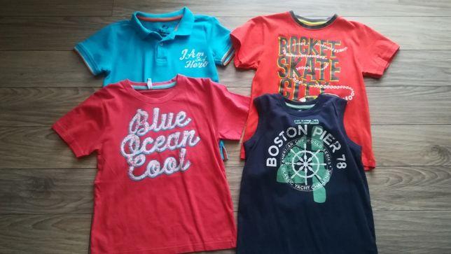 Zestaw 4x bluzka ,T-shirt dla chłopca w rozmiarze 122