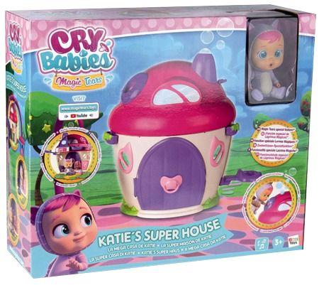 Cry Babies Magic Tears Domek Katie + lalka zestaw