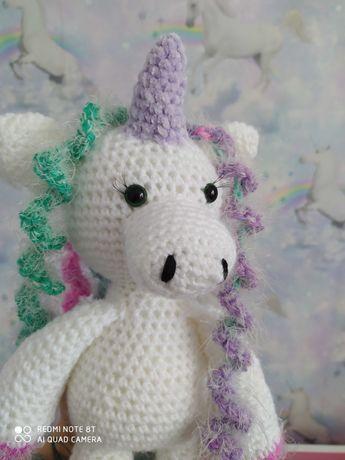 Unicorn pluszak szydełko