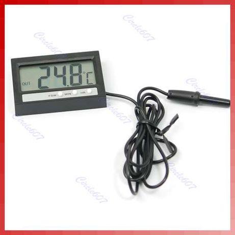 Relógio Digital LCD Termómetro interior e exterior