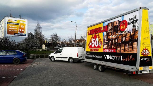 Reklama mobilna Billboardy backlight Przyczepy Busy reklamowe kampanie