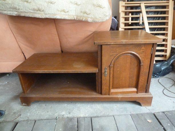 Szafka pod telewizor, drewniana, z półką