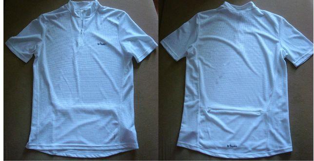 Велофутболка белая спортивная футболка для подростка новая