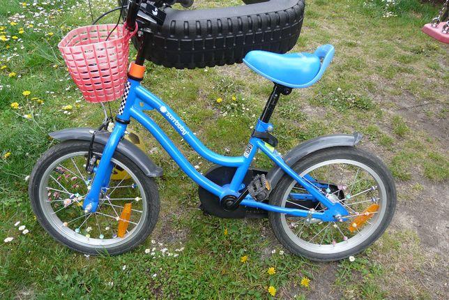rower 16 cali SunBaby (4-6 lat) JAK NOWY niebieski