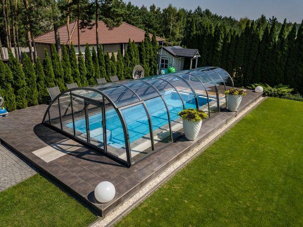 Zadaszenie do basenu wysokie, pokrycie basenu z montażem Bucovers
